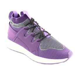 Befado obuwie dziecięce 516 fioletowe szare 1