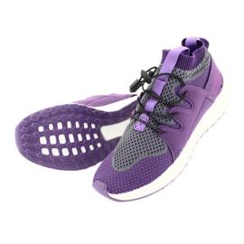 Befado obuwie dziecięce 516 fioletowe szare 5