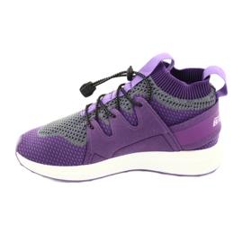 Befado obuwie dziecięce 516 fioletowe szare 2