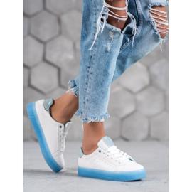 SHELOVET Białe Buty Sportowe niebieskie 3