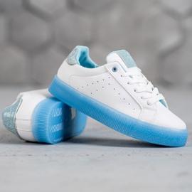 SHELOVET Białe Buty Sportowe niebieskie 1