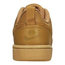Buty Nike Court Borough Low 2 (GS) Jr BQ5448-700 brązowe 4