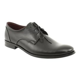 Półbuty pantofle skórzane Pilpol 1609 czarne 1