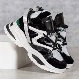 Modne Sneakersy VICES białe czarne wielokolorowe 2