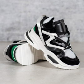 Modne Sneakersy VICES białe czarne wielokolorowe 3