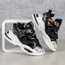 Modne Sneakersy VICES czarne wielokolorowe 3