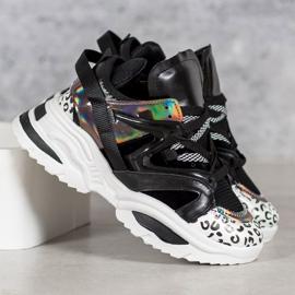 Modne Sneakersy VICES czarne wielokolorowe 2