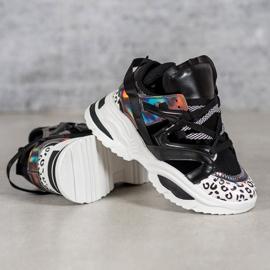 Modne Sneakersy VICES czarne wielokolorowe 1