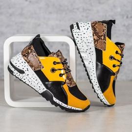 Sneakersy Snake Print VICES wielokolorowe żółte 1