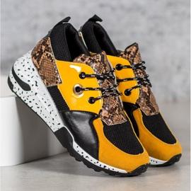Sneakersy Snake Print VICES wielokolorowe żółte 3
