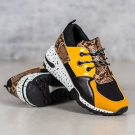 Sneakersy Snake Print VICES wielokolorowe żółte 2