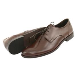 Półbuty pantofle skórzane Pilpol 1609 brąz brązowe 5
