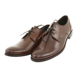Półbuty pantofle skórzane Pilpol 1609 brąz brązowe 3
