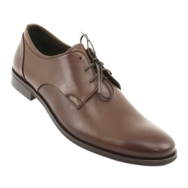 Półbuty pantofle skórzane Pilpol 1609 brąz brązowe 1