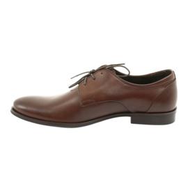 Półbuty pantofle skórzane Pilpol 1609 brąz brązowe 2