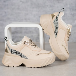 Beżowe Sneakersy VICES beżowy 1