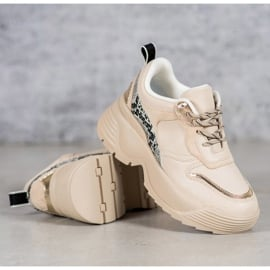 Beżowe Sneakersy VICES beżowy 2