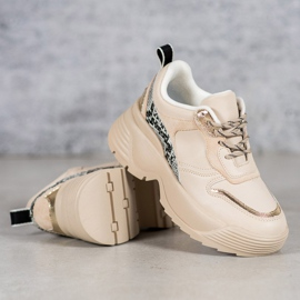Beżowe Sneakersy VICES beżowy 3
