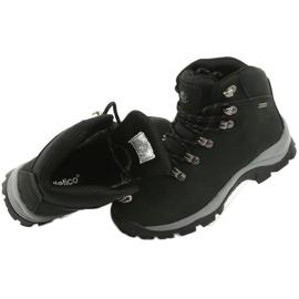 Buty Trekkingowe wiązane czarne Atletico 57089 6