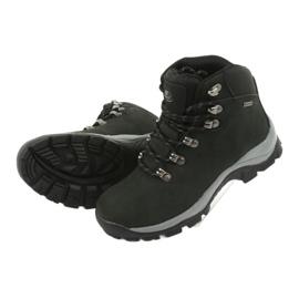 Buty Trekkingowe wiązane czarne Atletico 57089 5