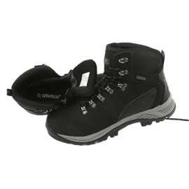 Buty Trekkingowe wiązane czarne Atletico 66176 6