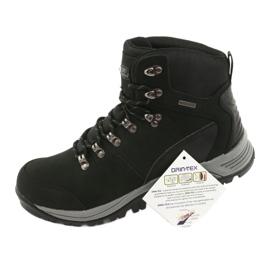 Buty Trekkingowe wiązane czarne Atletico 66176 7