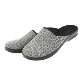 Befado obuwie męskie pu 548M023 czarne szare 3