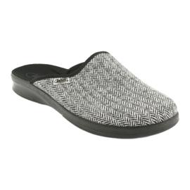 Befado obuwie męskie pu 548M023 czarne szare 1