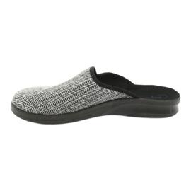 Befado obuwie męskie pu 548M023 czarne szare 2