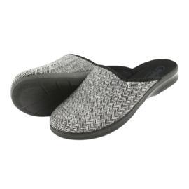 Befado obuwie męskie pu 548M023 czarne szare 4