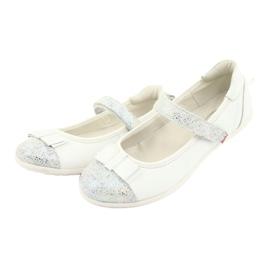 Befado buty dziecięce balerinki 170Y019 białe 3