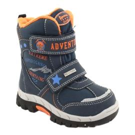 American Club American kozaki buty z membraną RL35 granatowe pomarańczowe 1