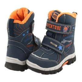 American Club American kozaki buty z membraną RL35 granatowe pomarańczowe 3