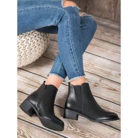 Ideal Shoes Klasyczne Botki Z Gumką czarne 5