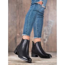 Ideal Shoes Klasyczne Botki Z Gumką czarne 1