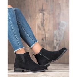 Ideal Shoes Wsuwane Botki czarne 4