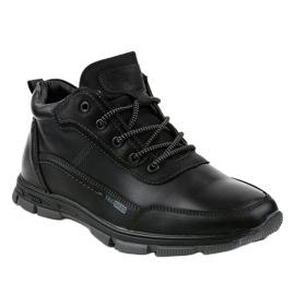 Czarne obuwie trekkingowe R7163-1 1