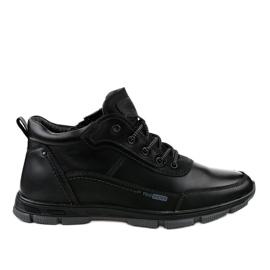 Czarne obuwie trekkingowe R7163-1 2