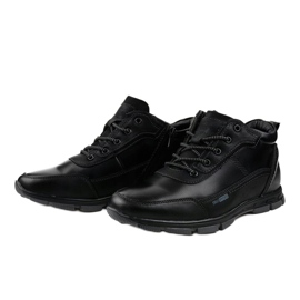 Czarne obuwie trekkingowe R7163-1 3