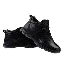 Czarne obuwie trekkingowe R7163-1 4