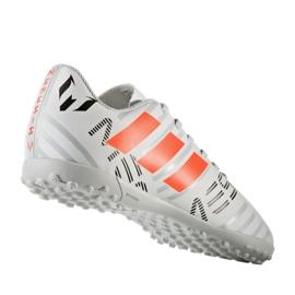 Buty piłkarskie adidas Nemeziz Messi 17.4 TF Jr S77207 białe 1