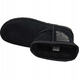 Buty Ugg Classic Mini Rubber Logo W 1108231-BLK czarne 2