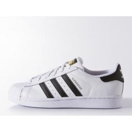 Buty adidas Originals Superstar Fundation Jr C77154 białe 2