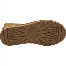 Buty Ugg Classic Mini Ugg Rubber Logo W 1108231-CHE brązowe 3