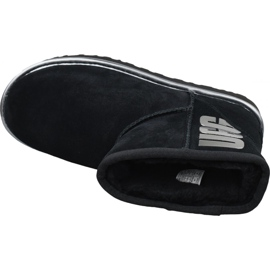 Buty Ugg Classic Mini Ugg Rubber Logo W 1110087-BMT czarne 2