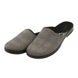 Befado obuwie męskie pu 548M021 beżowy czarne 3