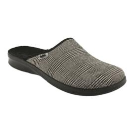 Befado obuwie męskie pu 548M021 beżowy czarne 1