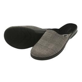 Befado obuwie męskie pu 548M021 beżowy czarne 4