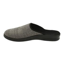 Befado obuwie męskie pu 548M021 beżowy czarne 2