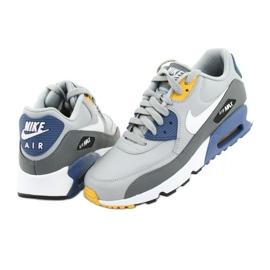 Buty Nike Air Max 90 Ltr Gs Jr 833412-026 białe niebieskie szare 4